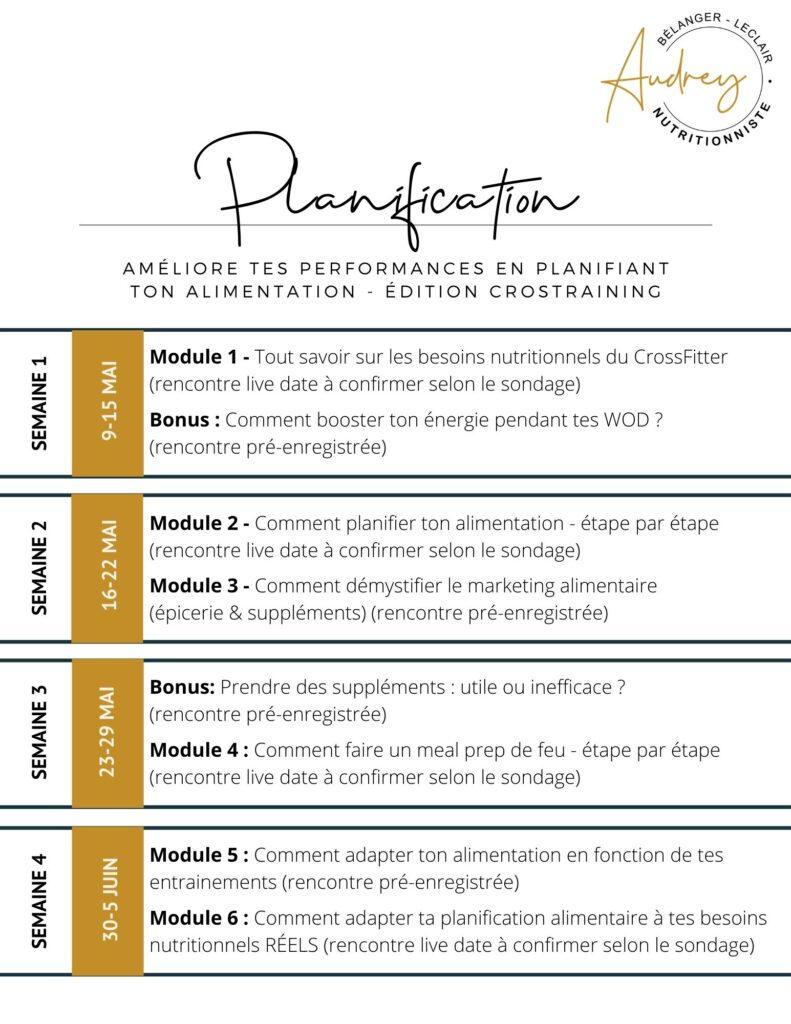 planification programme en ligne